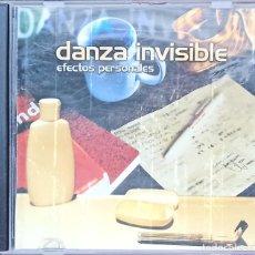 CDs de Música: DANZA INVISIBLE – EFECTOS PERSONALES. Lote 215583441