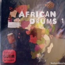 CDs de Música: AFRICA DRUMS1 + GUEM DVD PRECINTADO. Lote 215627413
