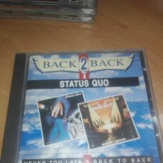 CDs de Música: STATUS QUO: NEVER TOO LATE & BACK TO BACK. Lote 215704750