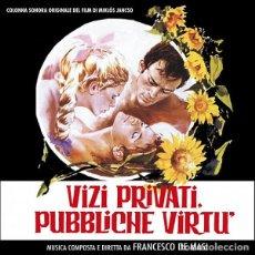 CDs de Música: FRANCESCO DE MASI - VIZI PRIVATI, PUBBLICHE VIRTÙ. Lote 252549205