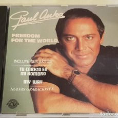 CDs de Música: PAUL ANKA / FREEDOM FOR THE WORLD / CD - PERFIL-1988 / IMPECABLE.. Lote 215802450