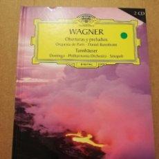 CDs de Música: WAGNER. OBERTURAS Y PRELUDIOS / TANNHÄUSER (2 CD) GRAN SELECCIÓN DEUTSCHE GRAMMOPHON. Lote 215805572
