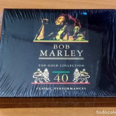 CDs de Música: BOB MARLEY - THE GOLD COLLECTION - 40 CLASSIC PERFORMANCES - CD DOBLE NUEVO SIN ESTRENAR PRECINTADO. Lote 215805671