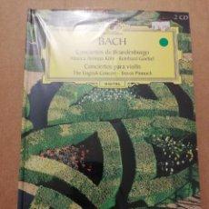 CDs de Música: BACH. CONCIERTOS DE BRANDENBURGO / CONCIERTOS PARA VIOLÍN (2 CD) DEUTSCHE GRAMMOPHON (PRECINTADO). Lote 215805701