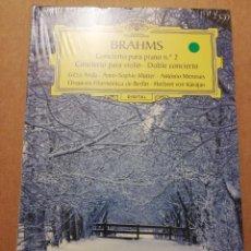 CDs de Música: BRAHMS. CONCIERTO PARA PIANO Nº 2 / CONCIERTO PARA VIOLÍN (2 CD) DEUTSCHE GRAMMOPHON (PRECINTADO). Lote 215806161