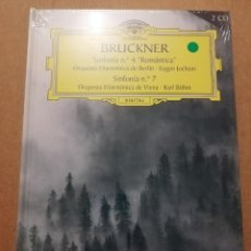 CDs de Música: BRUCKNER. SINFONÍA Nº 4 ROMÁNTICA / SINFONÍA Nº 7 (2 CD) DEUTSCHE GRAMMOPHON (PRECINTADO). Lote 215806296
