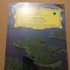 CDs de Música: GRIEG / SIBELIUS (2 CD) DEUTSCHE GRAMMOPHON (PRECINTADO). Lote 215806497