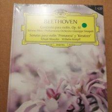 CDs de Música: BEETHOVEN. CONCIERTO PARA VIOLÍN, OP. 61 (2 CD) DEUSTSCHE GRAMMOPHON (PRECINTADO). Lote 215806575
