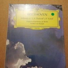 CDs de Música: BEETHOVEN. SINFONÍAS Nº 5, 6 PASTORAL Y 9 CORAL (2 CD) DEUTSCHE GRAMMOPHON (PRECINTADO). Lote 215806803
