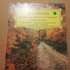 CDs de Música: BEETHOVEN. CONCIERTOS PARA PIANO Nº 2 Y 5 EMPERADOR (2 CD) DEUTSCHE GRAMMOPHON (PRECINTADO). Lote 215808187