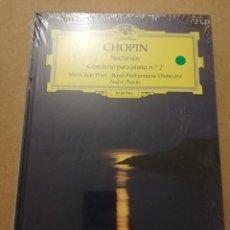CDs de Música: CHOPIN. NOCTURNOS / CONCIERTO PARA PIANO Nº 2 (2 CD) DEUTSCHE GRAMMOPHON (PRECINTADO). Lote 215808848