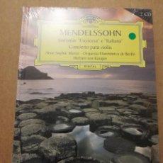 CDs de Música: MENDELSSOHN. SINFONÍAS ESOCESA E ITALIANA (2 CD) DEUTSCHE GRAMMOPHON (PRECINTADO). Lote 215808983