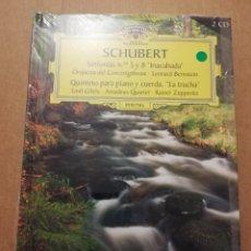 CDs de Música: SCHUBERT. SINFONÍAS Nº 5 Y 8 INACABADA / LA TRUCHA (2 CD) DEUTSCHE GRAMMOPHON (PRECINTADO). Lote 215809196