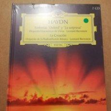 CDs de Música: HAYDN. SINFONÍAS OXFORD Y LA SORPRESA / LA CREACIÓN (2 CD) DEUTSCHE GRAMMOPHON (PRECINTADO). Lote 215810095