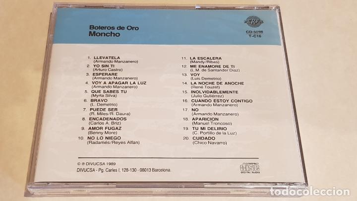 CDs de Música: MONCHO / BOLEROS DE ORO / CD - PERFIL-1989 / 20 TEMAS / PRECINTADO A ESTRENAR. - Foto 2 - 215819266