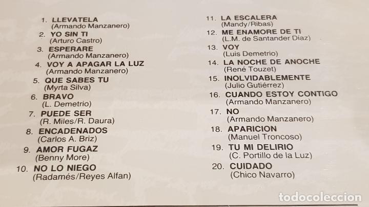 CDs de Música: MONCHO / BOLEROS DE ORO / CD - PERFIL-1989 / 20 TEMAS / PRECINTADO A ESTRENAR. - Foto 3 - 215819266