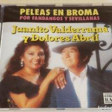 CDs de Música: JUANITO VALDERRAMA Y DOLORES ABRIL / PELEAS EN BROMA / POR FANDANGOS Y SEVILLANAS / CD - PRECINTADO. Lote 215824061