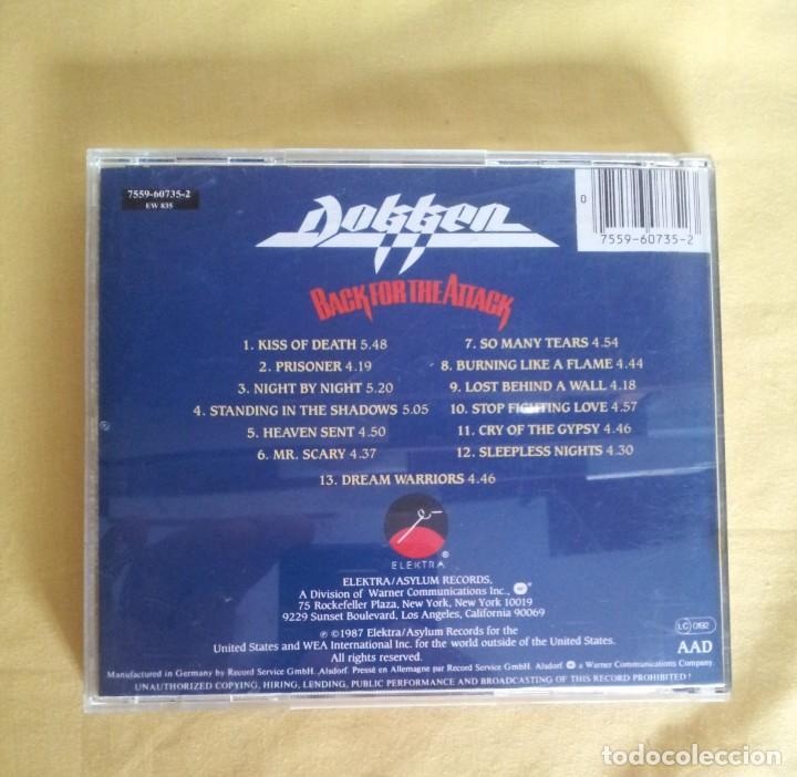 CDs de Música: DOKKEN - BACK FOR THE ATTACK - CD, ELEKTRA 1987 - Foto 2 - 215990512