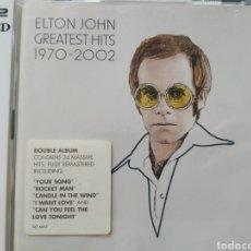 CDs de Música: ELTON JOHN GRANDES ÉXITOS 1970-2002 ,2 CDS NUEVO. Lote 216362285