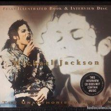 CDs de Música: CD MICHAEL JACKSON INTERVIEW PICTURE DISC CON LIBRETO ILUSTRADO EDICION LIMITADA DANGEROUS BAD. Lote 216564686