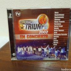 CDs de Música: CD OPERACIÓN TRIUNFO 2002 EN CONCIERTO 2 CD'S. Lote 216618738