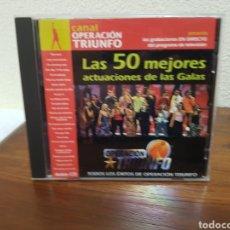 CDs de Música: CD OPERACIÓN TRIUNFO LAS 50 MEJORES ACTUACIONES DE LAS GALAS 2CDS. Lote 216619562