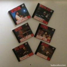 CDs de Música: LOTE DE 6 CDS DE JAZZ - MODERN JAZZ QUARTET, LIONEL HAMPTON, GERRY MULLIGAN, WYNTON MARSALIS .... Lote 216665115