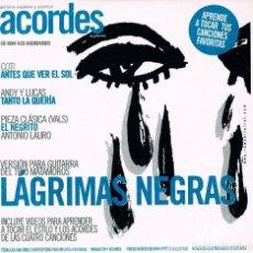 CDs de Música: LAGRIMAS NEGRAS, CON VIDEOS PARA APRENDER A TOCAR, ACORDES. Lote 216689770