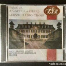 CDs de Música: FAMOUS A CAPPELA PIECES - LEIPZIG RADIO CHOIR - BACH, BRAHMS, MENDELSSOHN - PRECINTADO. Lote 216822023