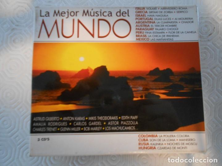 LA MEJOR MUSICA DEL MUNDO. TRIPLE COMPACTO CON 48 MEMORABLES TEMAS DE TODO EL MUNDO. (Música - CD's World Music)