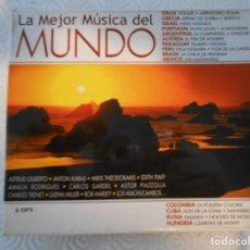 CDs de Música: LA MEJOR MUSICA DEL MUNDO. TRIPLE COMPACTO CON 48 MEMORABLES TEMAS DE TODO EL MUNDO.. Lote 216916145