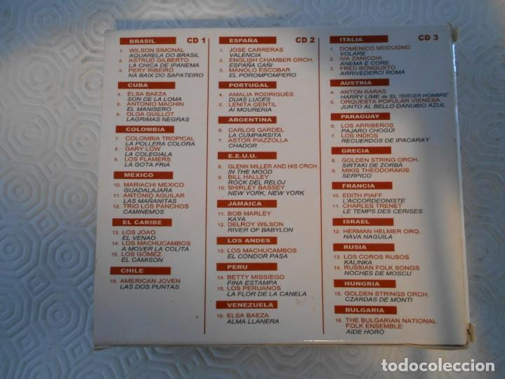 CDs de Música: LA MEJOR MUSICA DEL MUNDO. TRIPLE COMPACTO CON 48 MEMORABLES TEMAS DE TODO EL MUNDO. - Foto 2 - 216916145