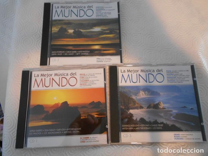 CDs de Música: LA MEJOR MUSICA DEL MUNDO. TRIPLE COMPACTO CON 48 MEMORABLES TEMAS DE TODO EL MUNDO. - Foto 3 - 216916145