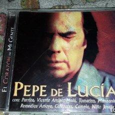 CDs de Música: PEPE DE LUCIA. EL CORAZÓN DE MI GENTE. EDICION DE 2002.. Lote 216950863
