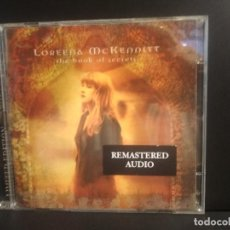 CDs de Música: LOREENA MCKENNITT - THE BOOK OF SECRETS - CD DVD LIMITED EDITION 1997 PEPETO. Lote 217036296