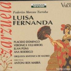 CD di Musica: LUISA FERNANDA DOBLE CD ZARZUELA PLÁCIDO DOMINGO 1995 AUVIDIS FRANCE CON LIBRO. Lote 217038468