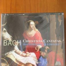 CDs de Música: BACH-CHRISTMAS CANTATAS HARNONCOURT LEONHARDT-3 CD-PRECINTADO NUEVO. Lote 217080136
