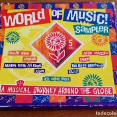 CDs de Música: WORLD OF MUSIC SAMPLER - A MUSIC JOURNEY AROUND THE GLOBE - CD 1997. Lote 217254268