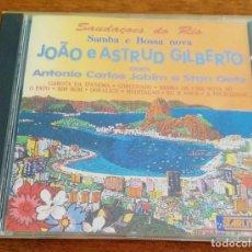 CDs de Musique: JOÂO E ASTRUD GILBERTO COM ANTONIO CARLOS JOBIM E STAN GETZ - SAUDAÇOES DO RIO - CD 1992. Lote 217256036