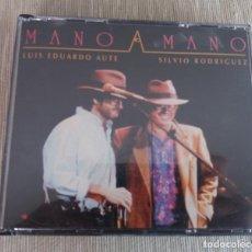 CDs de Musique: LUIS EDUARDO AUTE Y SILVIO RODRIGUEZ // MANO A MANO AÑO - DOBLE CD. Lote 217272942