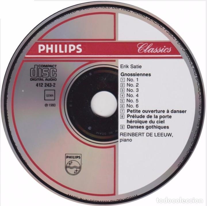 CDs de Música: ERIK SATIE. Vol. 1 EARLY PIANO WOEKS. REINBERT DE LEEUW (CD PHILIPS, 1980) - Foto 3 - 217278560
