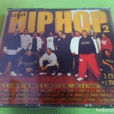 CDs de Música: ESTILO HIP HOP 2 ( 3 CD + 1 DVD) , VER FOTOS. Lote 217347468