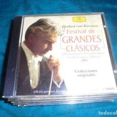 CDs de Música: HERBERT VON KARAJAN. FESTIVAL DE GRANDES CLASICOS. EDIC. NUMERADA Y LIMITADA.TELEFONICA . CD. IMPECA. Lote 217407797