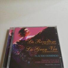 CD di Musica: LA REVOLTOSA / LA GRAN VÍA CD 2001 PLÁCIDO DOMINGO ORQUESTA COMUNIDAD DE MADRID ZARZUELA. Lote 217460716
