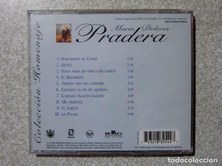 CDs de Música: MARIA DOLORES PRADERA.REVERDECER-Y YA--NO LO LLAMES...LOTE 3 CD´S - Foto 2 - 217509358