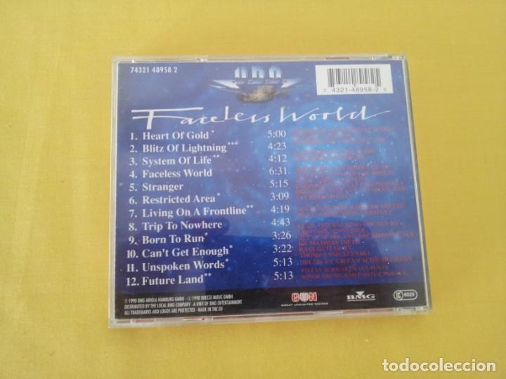 CDs de Música: U.D.O - FACELESS WORLD - CD, BMG ARIOLA 1990 - Foto 2 - 217546837