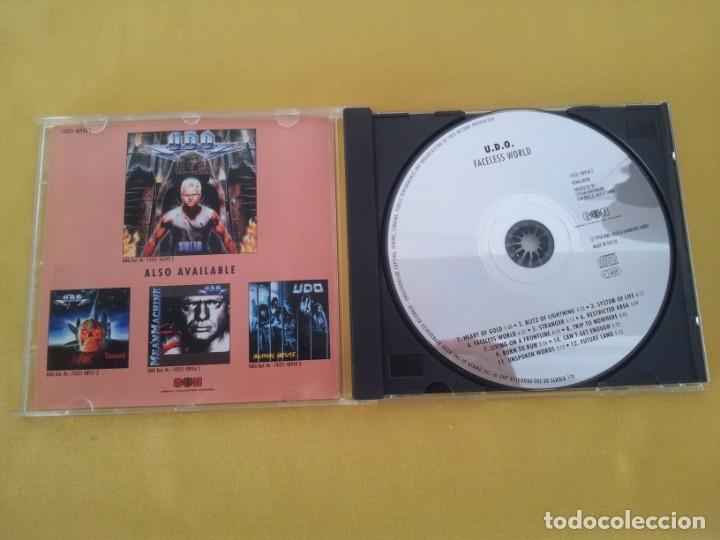 CDs de Música: U.D.O - FACELESS WORLD - CD, BMG ARIOLA 1990 - Foto 3 - 217546837