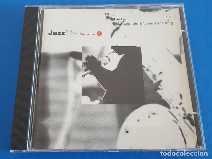CD / DUETS - ELLA FITZGERALD / LOUIS ARMSTRONG, JAZZ LIVE COLLECTION, COMO NUEVO (Música - CD's Jazz, Blues, Soul y Gospel)