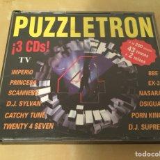 CDs de Música: PUZZLETRON 4 - RECOPILATORIO - 1996 - 3CD - DISCOTECA - INCLUYE FOLLETO. Lote 217569447