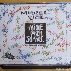 CDs de Música: MIGUEL RIOS (ASI QUE PASEN 30 AÑOS - TRES DECADAS DE EXITOS) 2 CD'S 1992. Lote 217627405